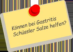 Gastritis Schüssler Salze
