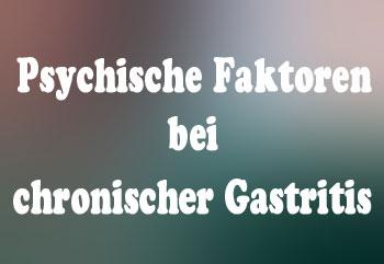Psychische Faktoren bei Gastritis